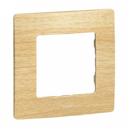 LEGRAND - Единична рамка NILOE 397095 Светло дърво