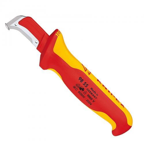 KNIPEX - Кабелен нож VDE 1000V с фиксатор 185мм 9855
