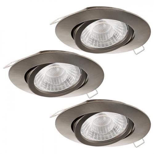 EGLO - LED к-т 3 х луни за LED 3xGU10 3степ. 3x5W 3x400lm 3000K Ø80 алум.отл.никел мат подв. 'TEDO' 95359