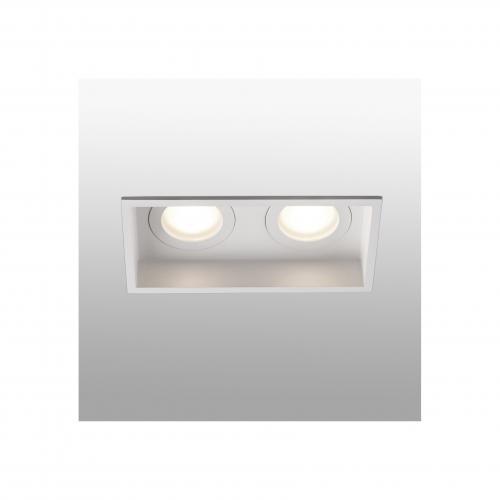 FARO - HYDE White square recessed lamp 2L Ref.40124