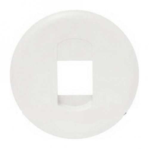 LEGRAND - Лицев панел за единична розетка за тонколони Celiane 68211 бял
