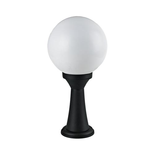 ACA LIGHTING - Градински стълб черен 40.5см Ø200 влагозащитен  IP44 PLGM3B