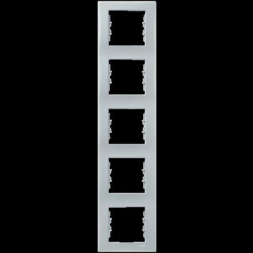 SCHNEIDER ELECTRIC - SDN5801533 декоративна рамка Sedna вертикална петорна сива