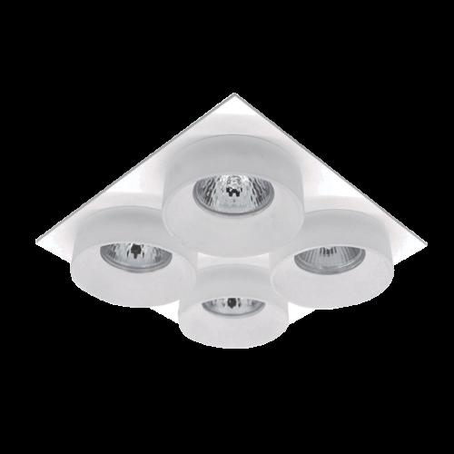 ELMARK - SA-045/4 луна за вграждане четворна правоъгълна бяла 92045S4/WHFR