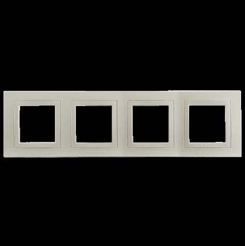 SCHNEIDER ELECTRIC - MGU2.008.25 декоративна рамка Unica Basic четворна слонова кост