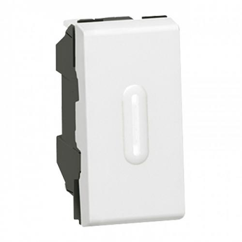 LEGRAND - Бойлерен ключ с LED индикация 20A (двуполюсен) 1 мод  Mosaic бял 77062