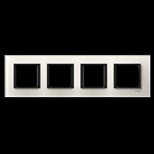 SCHNEIDER ELECTRIC - MGU68.008.7C2 декоративна рамка четворна кристално бяло Unica Class
