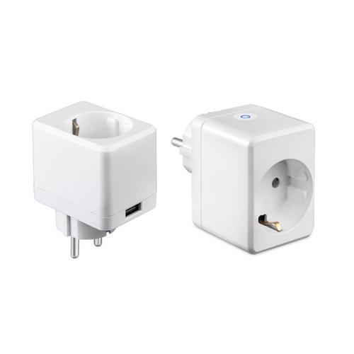 V-TAC - WIFI SMART Мини Контакт с USB Съвместим с Amazon Alexa & Google Home SKU: 8416 VT-5002