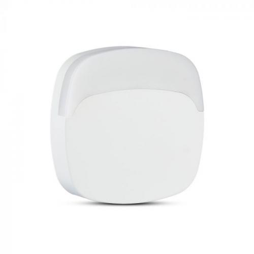 V-TAC PRO - LED Нощна Лампа за Контакт Квадратна със сензор ден/нощ 3000K SKU: 826 , 4000К-827, VT-82