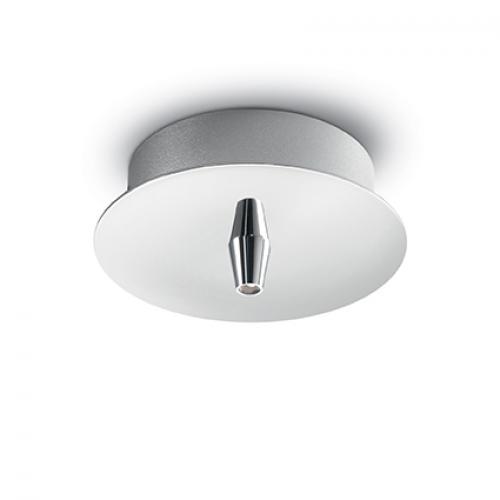 IDEAL LUX - Розетка за таван  ROSONE METALLO 1 LUCE Cromo 122830