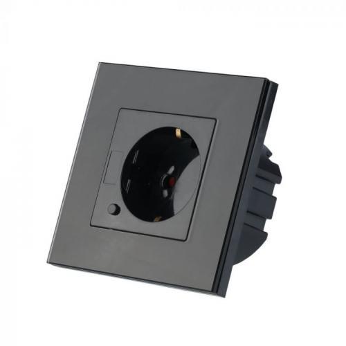 V-TAC - WIFI SMART Контакт Конзолен Черен Съвместим с Amazon Alexa & Google Home SKU: 8797 VT-5134