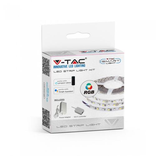 V-TAC - Smart LED Лента RGB Сет SMD5050 60/1 RGB IP20 съвместима с Amazon Alexa & Google Home SKU: 2583 VT-5050