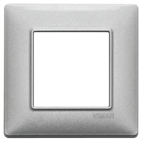 VIMAR - 14642.71 - Plate 2M metal metallized silver