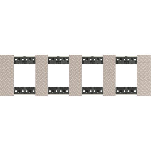 BTICINO - Рамка 4x2 мод. немски стандарт цвят Илюзия Living Now Bticino KA4802M4MM