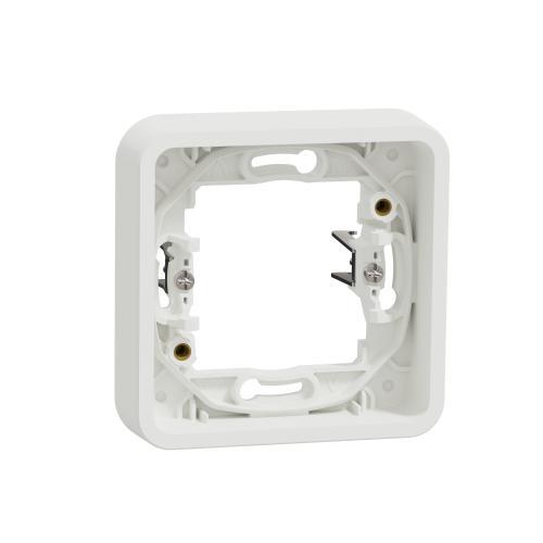 SCHNEIDER ELECTRIC - Рамка единична със скоби IP55 Mureva  цвят Бял MUR39108