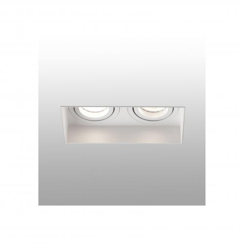FARO - HYDE White orientable square recessed lamp without frame 2L Ref.40122