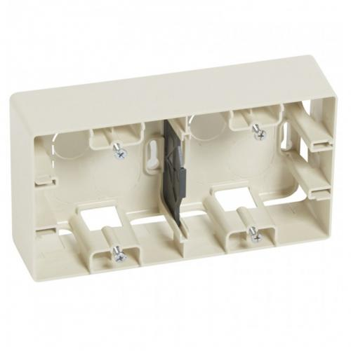 LEGRAND - 6 648 99 Surface mounting box Niloé - 2 gang - ivory