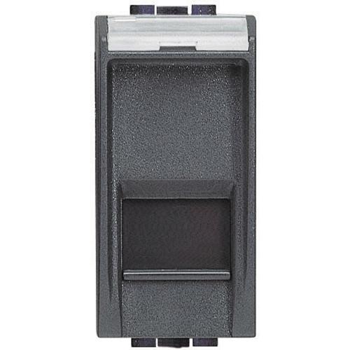 BTICINO - L4279C6A Компютърна розетка RJ45 cat.6A STP конектор toolless IDC Антрацит