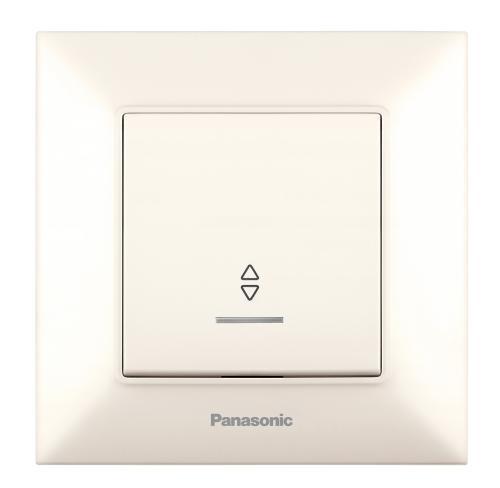PANASONIC - Девиаторен ключ светещ Panasonic Arkedia Slim крем WNTC0004-2BG