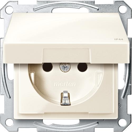 SCHNEIDER ELECTRIC - MTN2414-0344 Механизъм контакт шуко с лицев панел крема IP44 System M