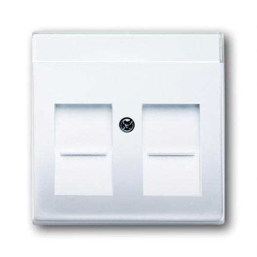ABB - 2CKA001710A3945 Лицев панел за розетка 2хRJ45 ABB Basic55 Бяло alpine white