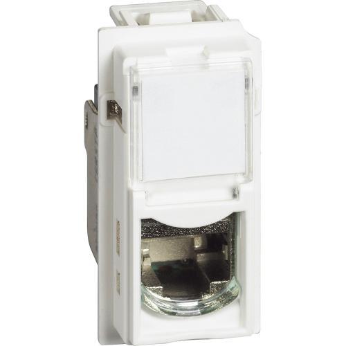 BTICINO - Розетка RJ45 cat.6 STP конектор toolless IDC 1 мод. цвят Бял Living Now Bticino KW4279C6S