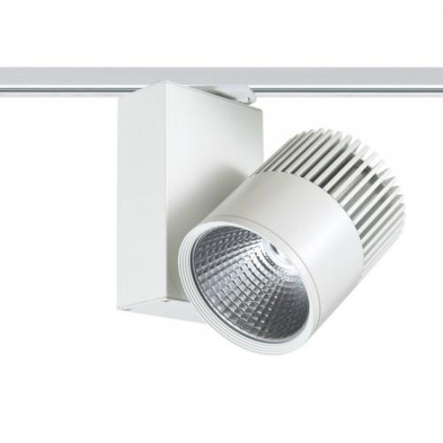 ACA LIGHTING - Релсов прожектор LED 30W 4000K за монофазна шина бял BIENAL3040W2