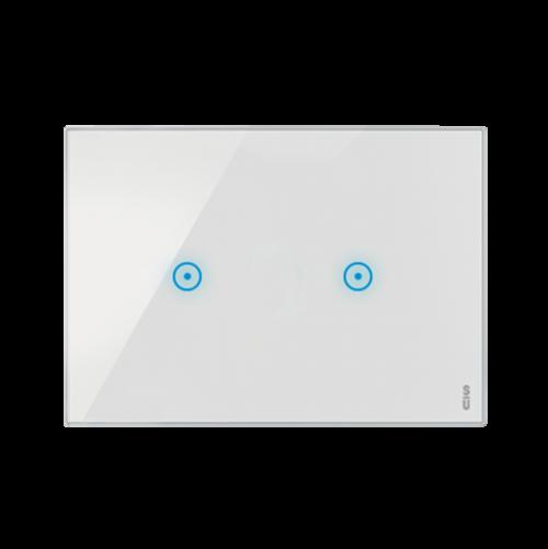 SIMON URMET - 14023.BN Тримодулна TOUCH рамка с две команди White Snow