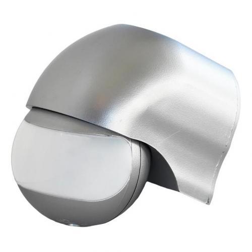 COmmel - Датчик за движение PIR, открит монтаж на стена, 180°, обхват 12m @ h=2.3m, IP44, цвят Сребро Commel 310-103