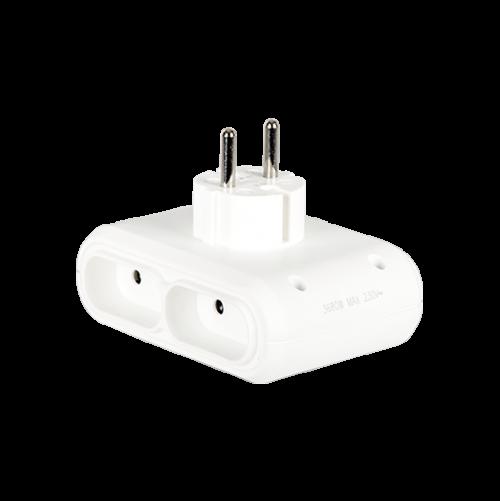 LEGRAND - 50650 Адаптер за контакт 6А плосък 4х2P бял