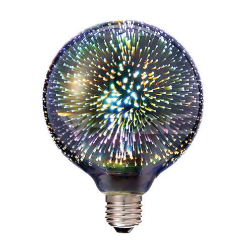 V-TAC - LED Крушка - 3W E27 Filament 3D G125 3000K SKU: 2706 VT-2233