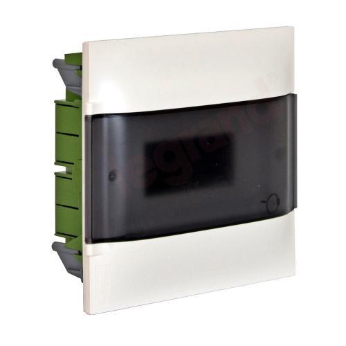 LEGRAND - Табло за скрит монтаж 6 мод. Practibox S с прозрачна врата и Н и РЕ клеми 134156