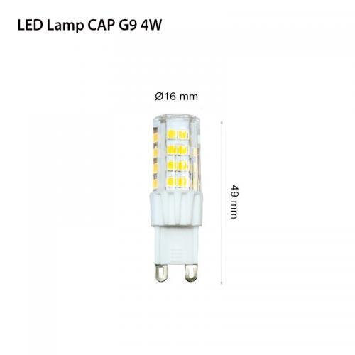 TNL - LED лампа G9 CAP 4W 3000К