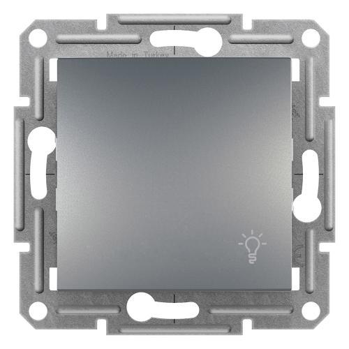 SCHNEIDER ELECTRIC - Бутон със символ осветление стомана 10A Аsfora EPH0900162