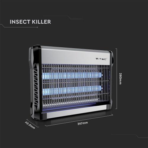 V-TAC - 2 x 10W Инсектицидна Лампа против насекоми, комарник SKU: 11180 VT-3220