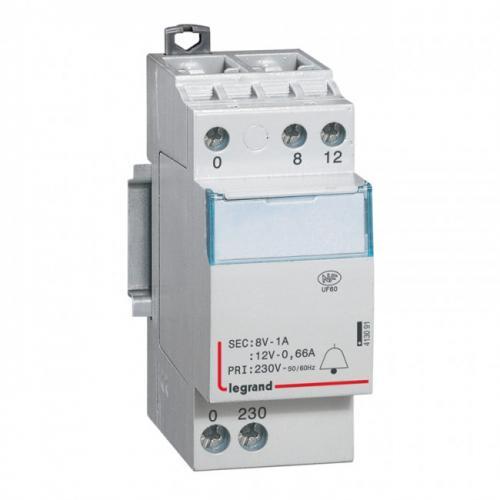 LEGRAND - Звънчев трансформатор от 230V към 8-12V /0.66-1A/ 413091
