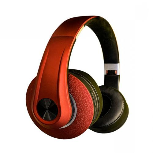 V-TAC - SKU:7731 VT-6322 BLUETOOTH WIRELESS HEADPHONE WITH ADJUSTABLE HEAD-500mah-RED
