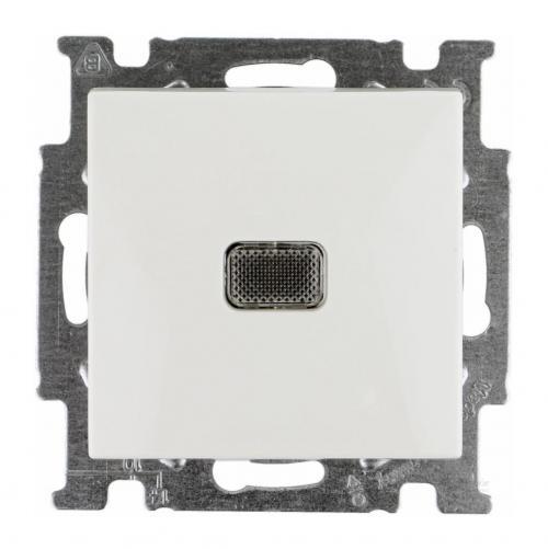 ABB - Ключ eднополюсен с индикация ABB Basic55 Бяло 1012-0-2153