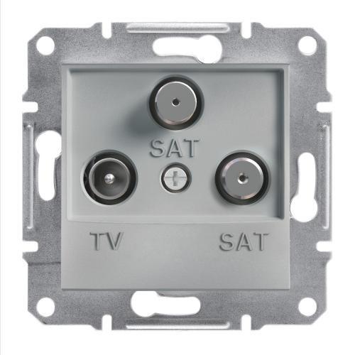 SCHNEIDER ELECTRIC - TV SAT SAT розетка крайна 1dB алуминий Asfora EPH3600161