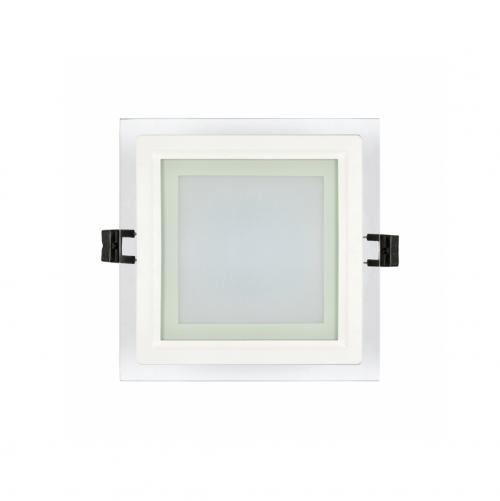 ULTRALUX - LPSG642 LED glass panel for building-in square, 6W, 4200K, 220V AC, neutral light, IP44, SMD2835