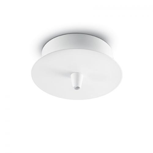 IDEAL LUX - Розетка за таван  ROSONE METALLO 1 LUCE Bianco  122823
