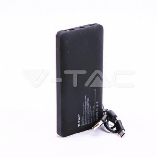 V-TAC -  10000 mAh Външна Батерия Дисплей USB Тип C Розова SKU: 8873 VT-3511