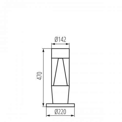 KANLUX - Градински стълб INVO TR 47-O-GR (29175)