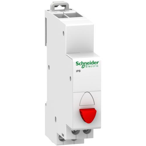 SCHNEIDER ELECTRIC - Модулен бутон единичен Acti 9 iPB 1NC червен A9E18031