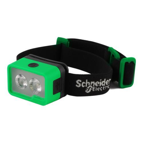 SCHNEIDER ELECTRIC - Челник за глава Mobiya Front LED 60lm с USB батерия Li-Poly 3,7V 500mAh с бяла и червена светлина AEP-LF01-S1000
