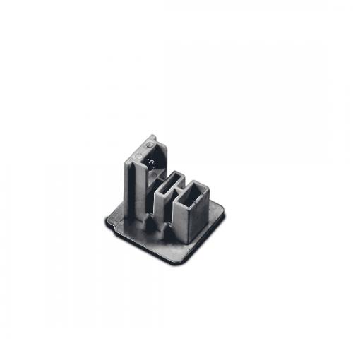 ACA LIGHTING - Крайна капачка за трифазна шина за вграждане сивo 4WTEG