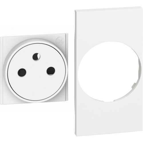 BTICINO - Лицев панел за контакт френски стандарт 2 мод. цвят Бял Living Now Bticino KW55F