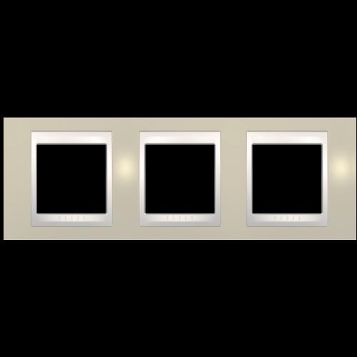 SCHNEIDER ELECTRIC - MGU6.006.567 рамка Unica Plus тройна светло бежов/слонова кост
