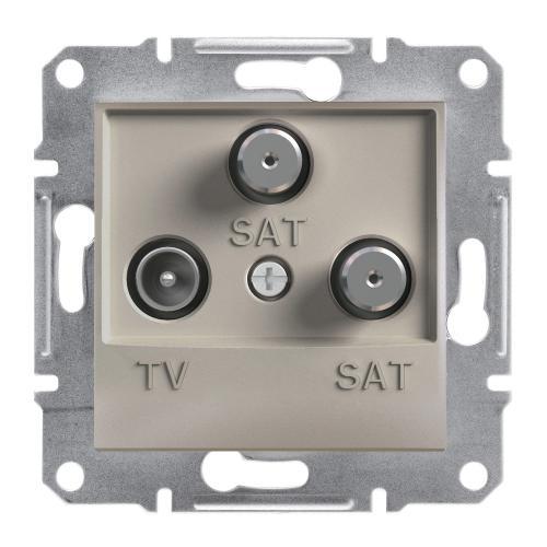 SCHNEIDER ELECTRIC - TV SAT SAT розетка крайна 1dB бронз Asfora EPH3600169