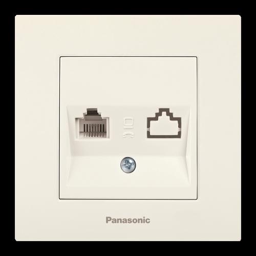 PANASONIC - Розетка телефонна Panasonic Kare крем WKTC04022BG‐EU1